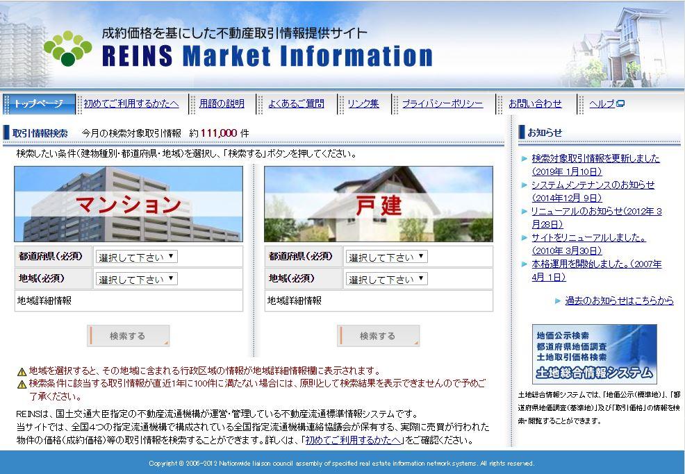 REINSの画面イメージ
