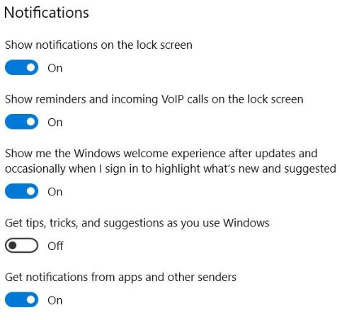 Win10 Notifications Pros & Cons.general