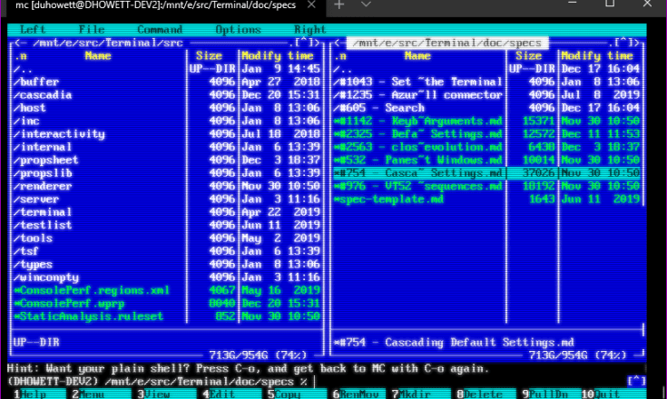 CRT effects display for Windows Terminal