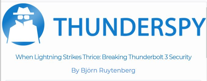 Thunderspy website banner