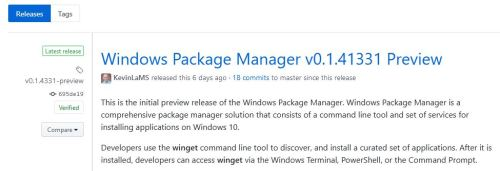 Windows Package Manager Worth a Look.github