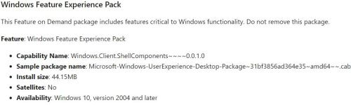 Windows Feature Experience Pack Poses an Interesting Mystery.fod-info