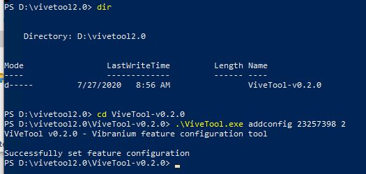 New Disk Managment Tool.vivetool invocation