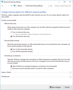 Enable File And Printer Sharing In Windows 10 Creators Edition