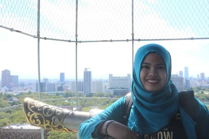 On top of Osaka Castle
