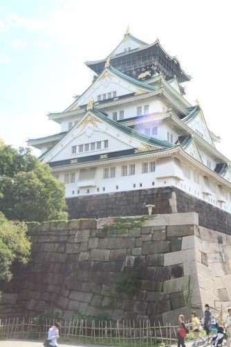 Osaka Castle from the back
