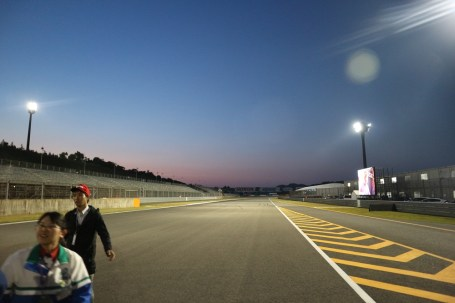 Blue hour on the track. Just perfect.
