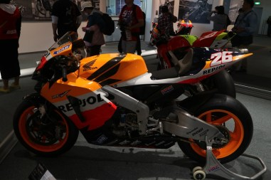 Dani's RC211V looks smaller than the average motorcycle racing