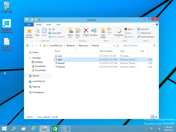 Enable the hidden Aero Lite theme in Windows 10