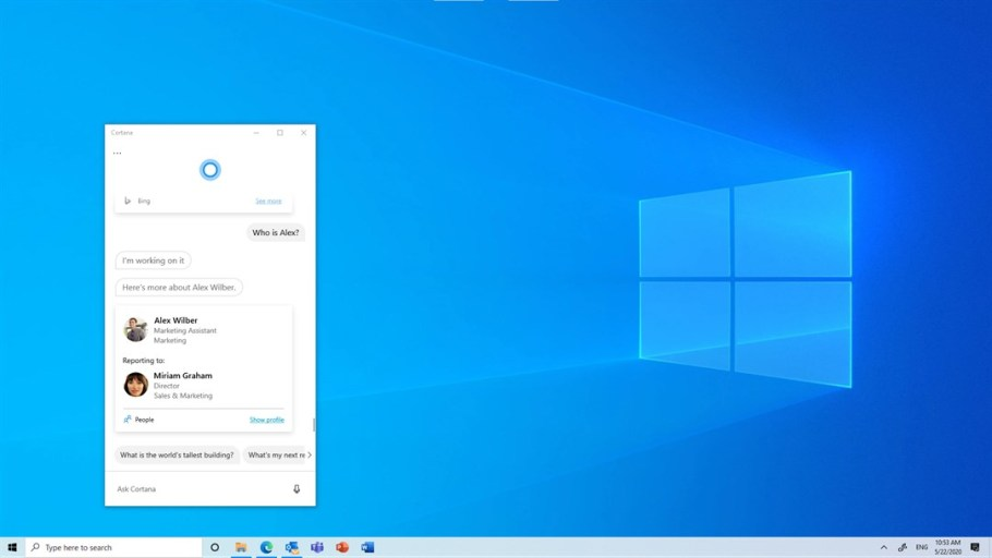 Cortana no beta
