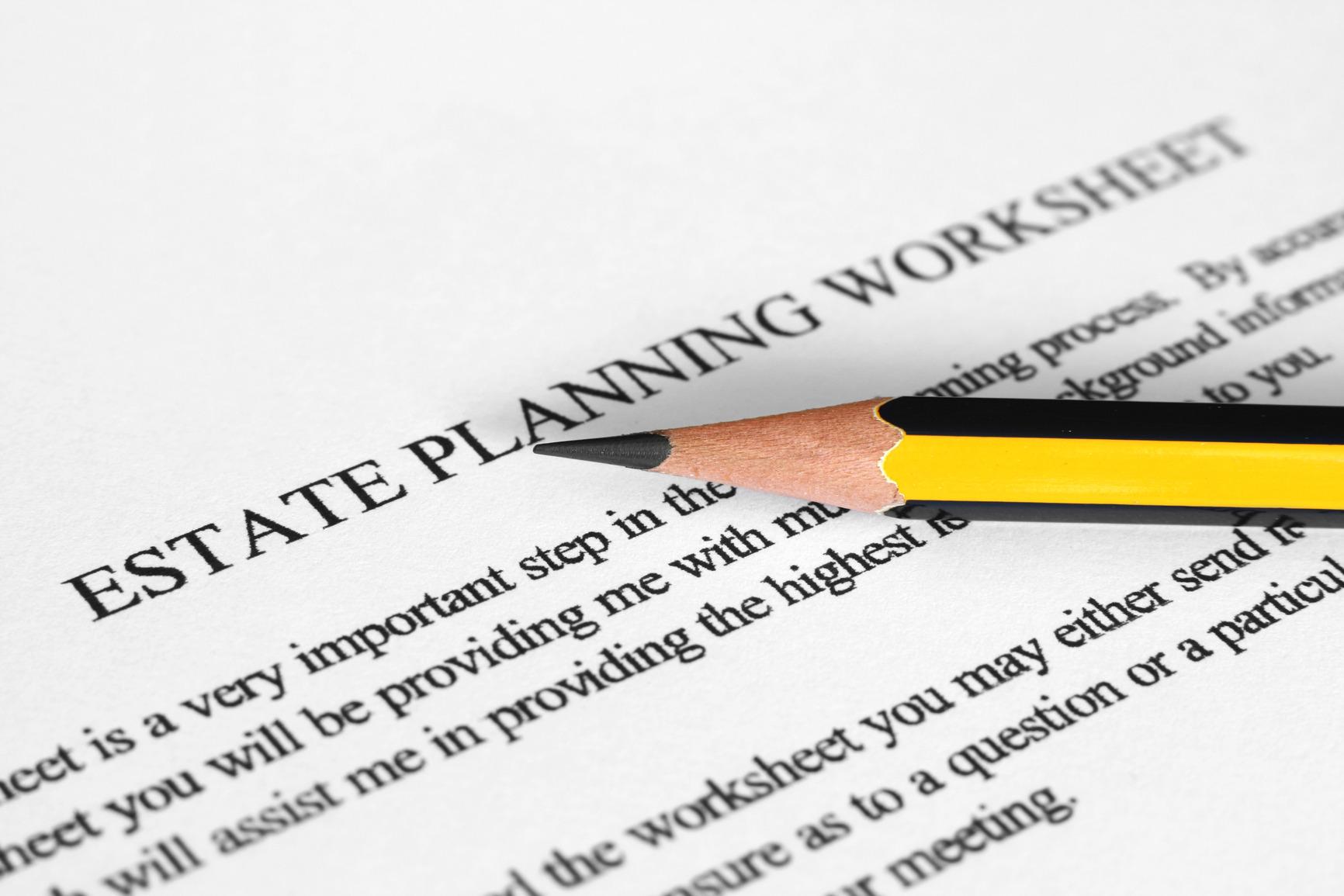 Attachment: Estate planning worksheet