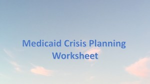 mediciad crisis planning worksheet