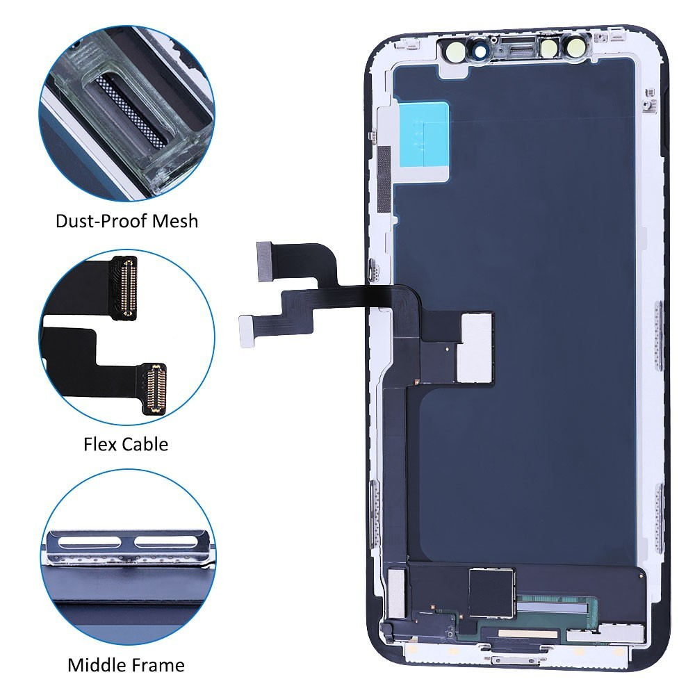 Full Assembly For iPhone X XS XS MAX 6 6Plus 6S 6S Plus 7 7Plus 8 8Plus LCD Touch Screen OLED Display Digitizer Assembly Parts