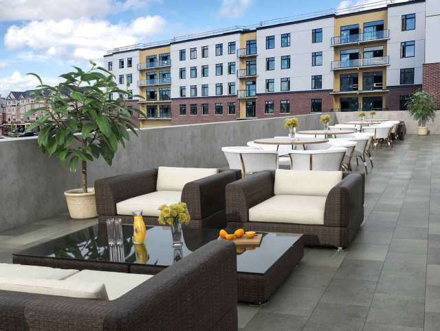 The roof top patio will be a great spot to gather with friends or family when not spending time in your spacious private suites.