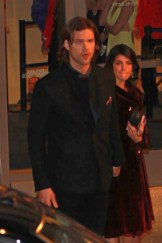 Actor Jared Padalecki makes his way out of the 2013 People's Choice Awards in Los Angeles