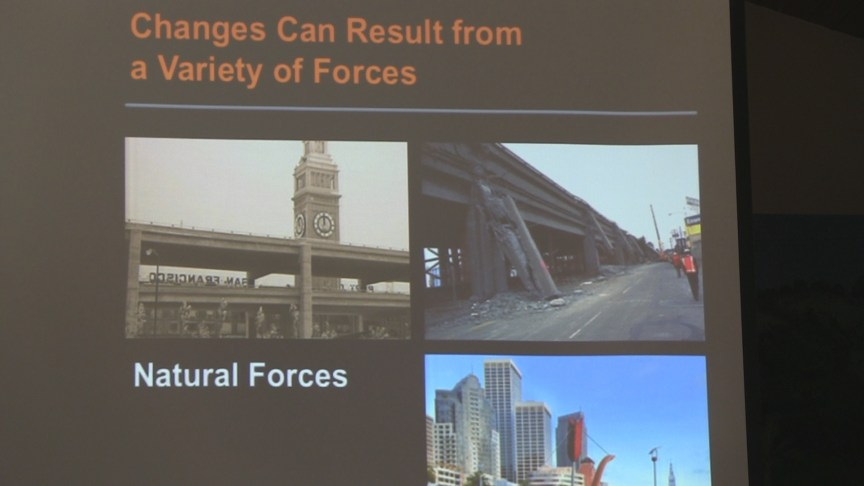Some of the forces that cause change.