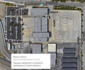 VTA, North Yard in Mountain View image from Google Maps.