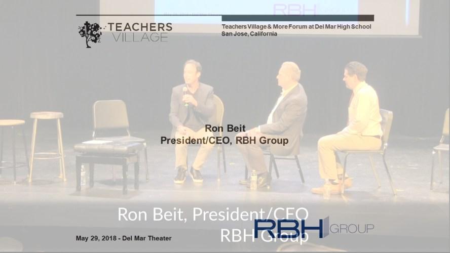 Ron Beit speaking at the Teachers Village & More Forum