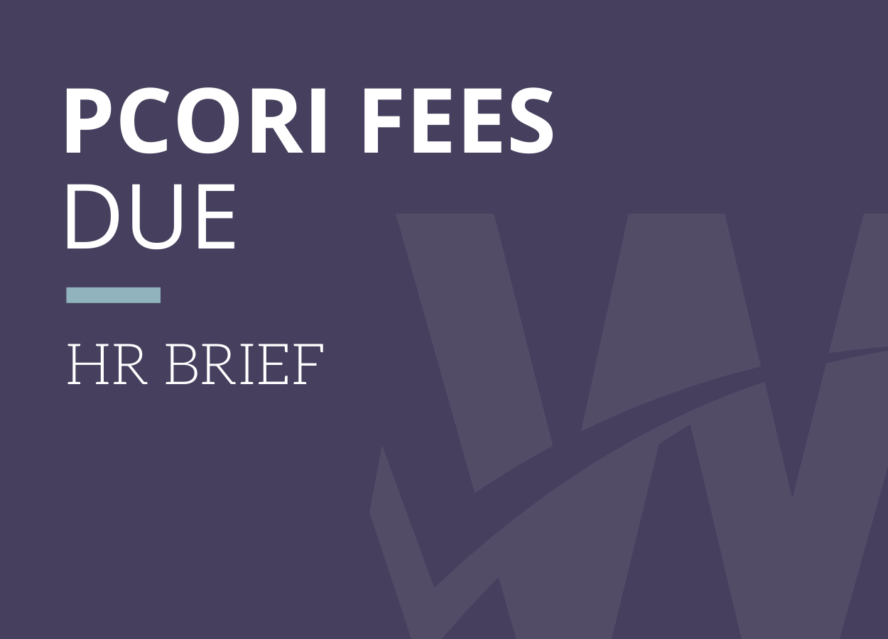 PCORI Fees Due July 31, 2019