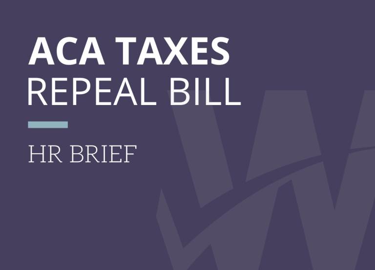 House Passes Spending Bill that would Repeal Some ACA Taxes