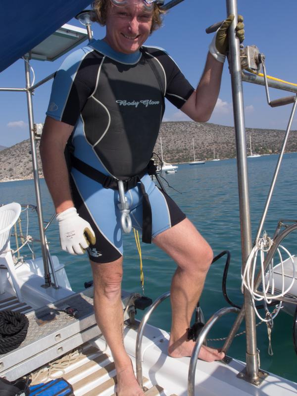 Schwerer Geschütze: Hier bin ich hochgerüstet zum nächsten Angriff auf die Unterwasserwelt am Rumpf von Platypus