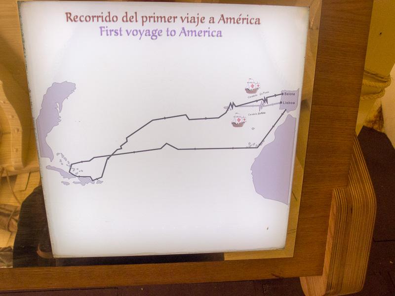 Carabela Pinto: die Route von Christopfer Columbus und seiner kleinen Flotte