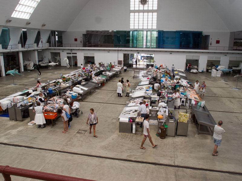 Skipper's Los: Markttag in Leixoes, die Fischabteilung