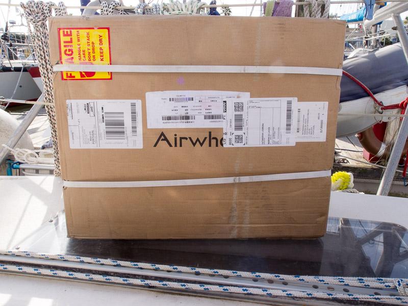 Airwheel im Karton: so kam das Rad bei mir an