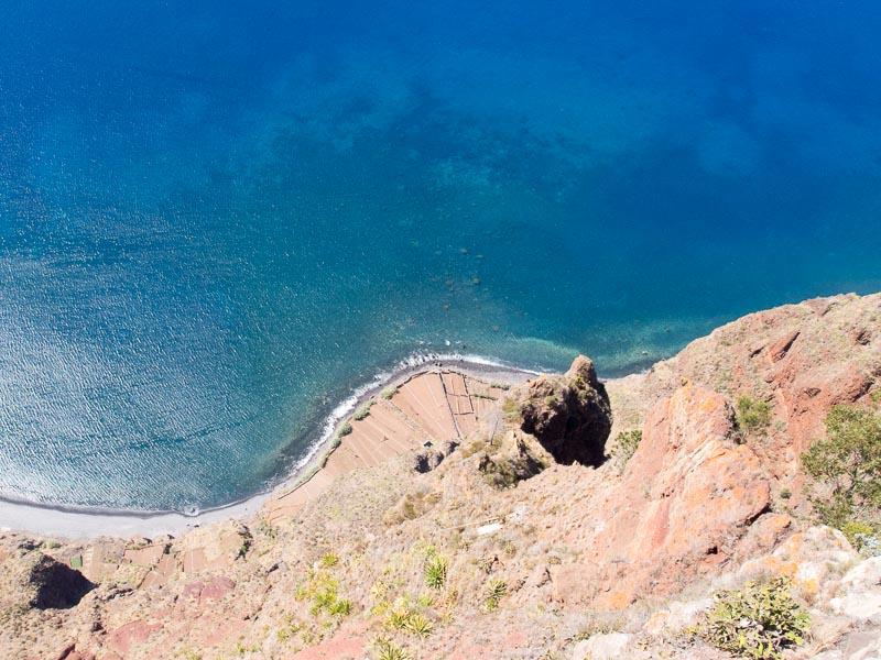 Cabo Girao, Blick nach unten