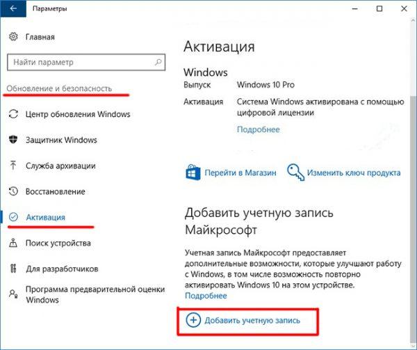 Windows 10 активтендіру терезесі