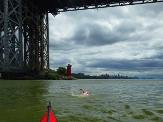 Finally out in the Hudson! Under the George Washington Bridge
