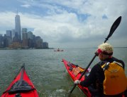 We paddle down to the Battery