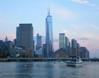 Freedom Tower in the dusk