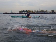 We overtake another swimmer