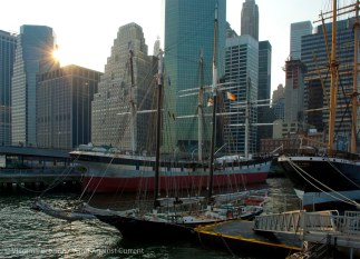 At Pier 16, next to the South Street Seaport