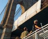 We're off! We pass under the Brooklyn Bridge