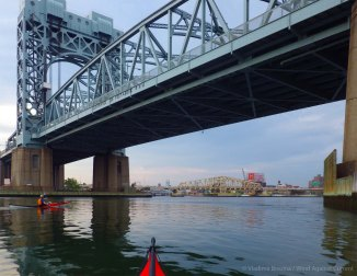We head into the Harlem River