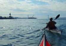 Through the Bay Ridge anchorage