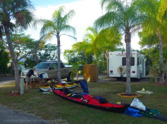 We pack the boats at our campground in Chokoloskee