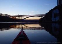 Henry Hudson Bridge ahead