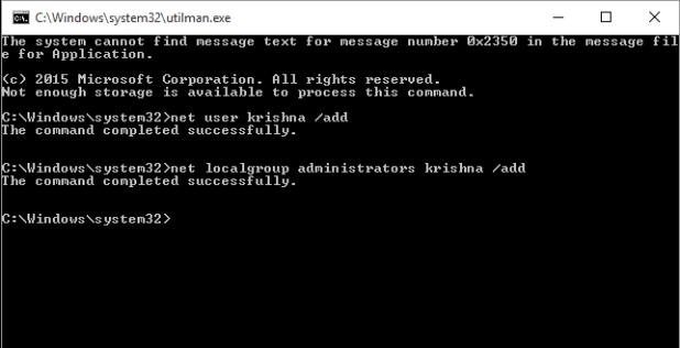 сбросить пароль Windows 10