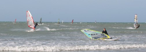 Action on the reef at high tide