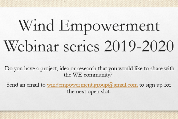 WE webinars: Interested in sharing your projects, ideas or research?