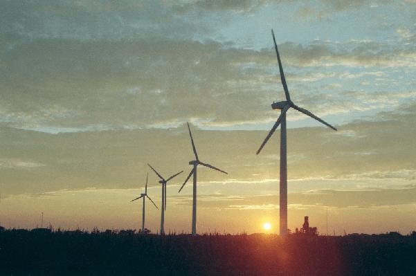 Solar-Wind, Wind Farm near Montfort, Wisconsin (credit: Todd Spink at NREL)