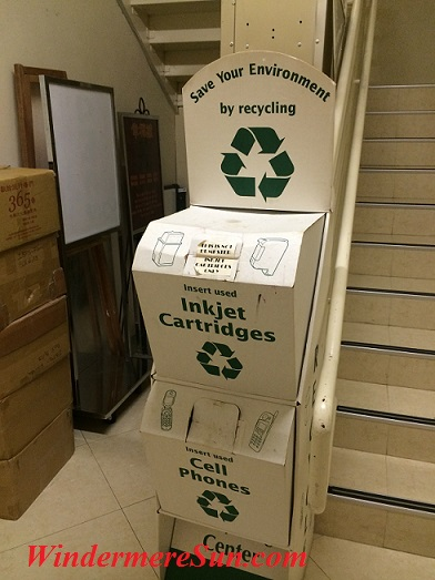 Recycling at Guang Ming Temple (photographed by Windermere Sun-Susan Sun Nunamaker)