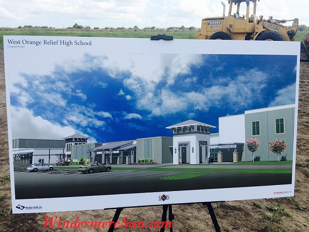 Artist rendering of the new West Orange County Relief High School that will open in 2017 (photographed by Windermere Sun-Susan Sun Nunamaker)