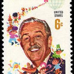 Walt Disney stamp public domain