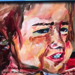 Art Show of Windermere Prep School- art work3 of Mashal Dhanani (photographed by Windermere Sun-Susan Sun Nunamaker)