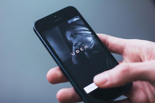 Uber, Ride-sharing app (credit: uber)