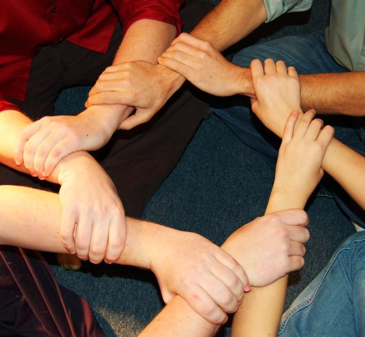 Linked Hands (credit: Julia Freeman Woolpert)